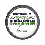 Hung Like Me Wall Clock