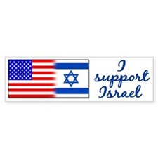 I Support Israel Bumper Car Sticker