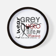 Hero in Life 2 Brain Cancer Wall Clock