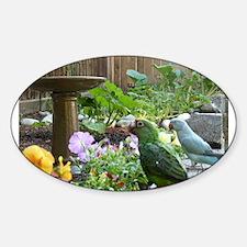 Parrots in the Garden Decal