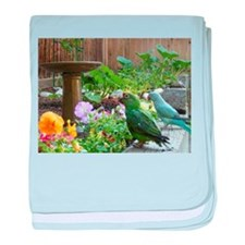 Parrots in the Garden baby blanket