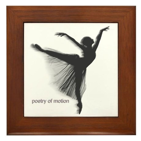 Poetry of Motion Framed Tile