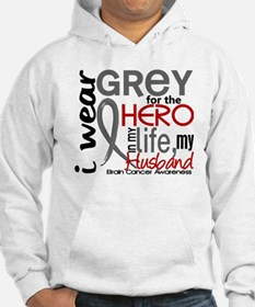 Hero in Life 2 Brain Cancer Hoodie