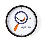 Groklaw Logo Wall Clock