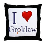 I Love Groklaw Throw Pillow