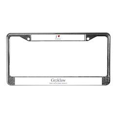 Groklaw License Plate Frame