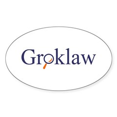 Groklaw Oval Decal