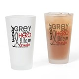 Brain cancer Pint Glasses