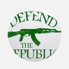 DEFEND THE REPUBLIC (green ink) Ornament (Round)