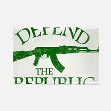 DEFEND THE REPUBLIC (green ink) Rectangle Magnet