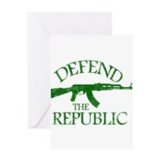 DEFEND THE REPUBLIC (green ink) Greeting Card