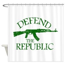 DEFEND THE REPUBLIC (green ink) Shower Curtain