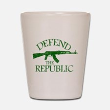 DEFEND THE REPUBLIC (green ink) Shot Glass