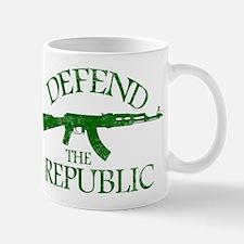 DEFEND THE REPUBLIC (green ink) Mug