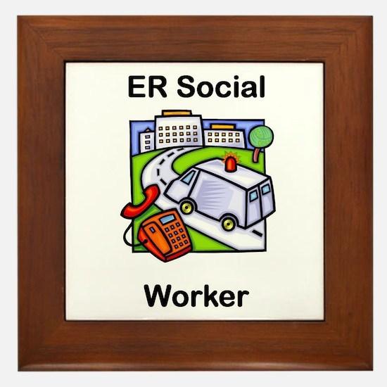 ER Social Worker Framed Tile