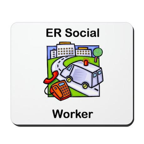 ER Social Worker Mousepad