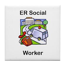 ER Social Worker Tile Coaster
