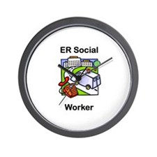 ER Social Worker Wall Clock
