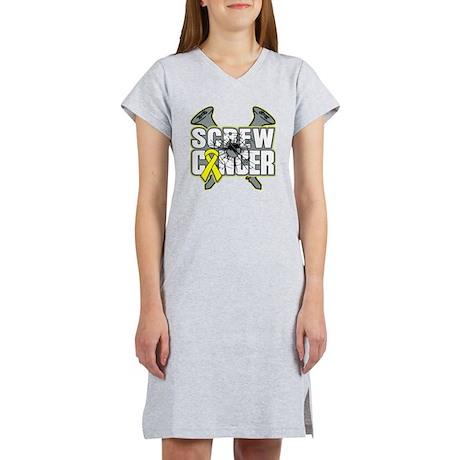 Screw Sarcoma Cancer Women's Nightshirt