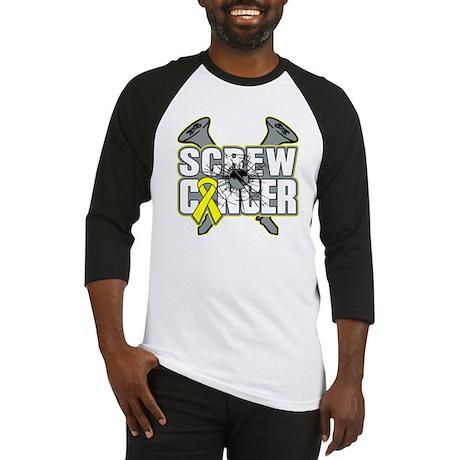 Screw Sarcoma Cancer Baseball Jersey