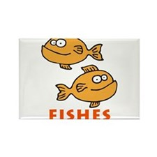 fishes zodiac Rectangle Magnet