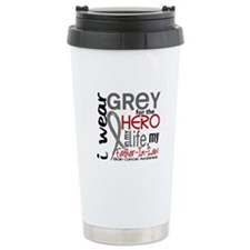 Hero in Life 2 Brain Cancer Travel Mug