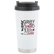 Hero in Life 2 Brain Cancer Travel Mug
