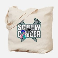 Screw Thyroid Cancer Tote Bag