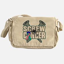 Screw Thyroid Cancer Messenger Bag