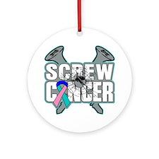 Screw Thyroid Cancer Ornament (Round)