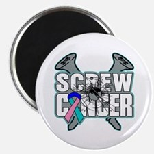 "Screw Thyroid Cancer 2.25"" Magnet (10 pack)"
