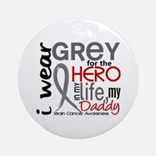 Hero in Life 2 Brain Cancer Ornament (Round)