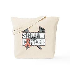 Screw Uterine Cancer Tote Bag