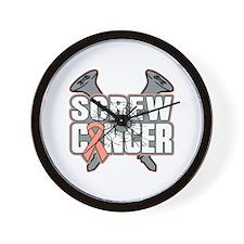 Screw Uterine Cancer Wall Clock