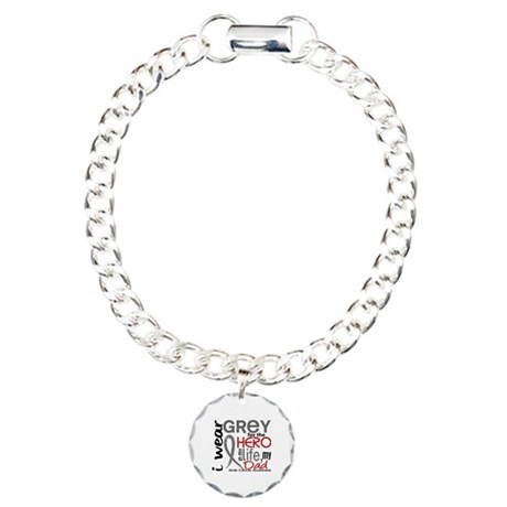 Hero in Life 2 Brain Cancer Charm Bracelet, One Ch