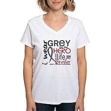 Hero in Life 2 Brain Cancer Shirt
