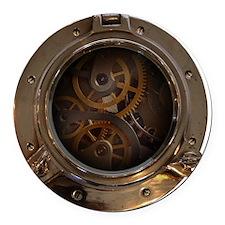 Porthole - Clockwork Round Car Magnet
