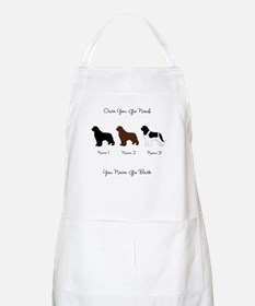 3 Newfs - Black, Brown, Landseer Apron