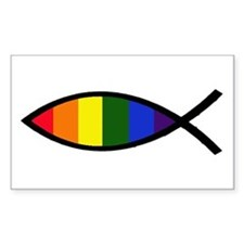 Gay Colors Christian Fish Sticker Decal