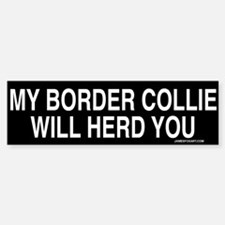 Border Collie Madness Sticker (Bumper)