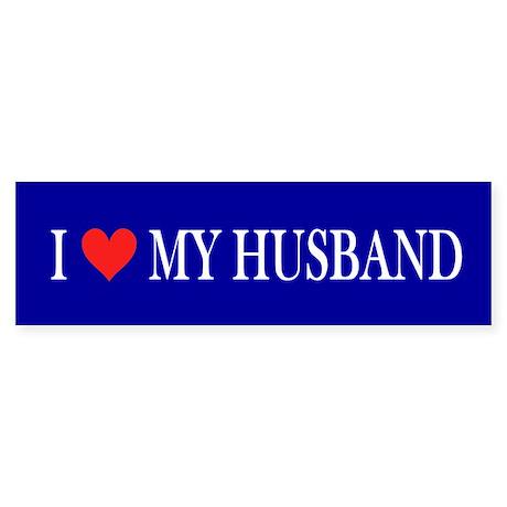 I Love My Husband: Sticker (Bumper)