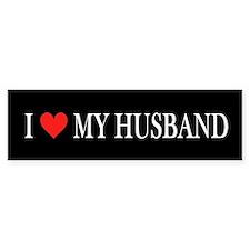 I Heart My Husband Bumper Bumper Sticker