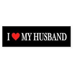 I Heart My Husband Bumper Sticker