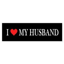 I Heart My Husband Bumper Sticker