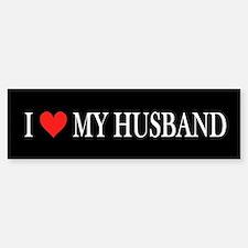 I Heart My Husband Car Car Sticker