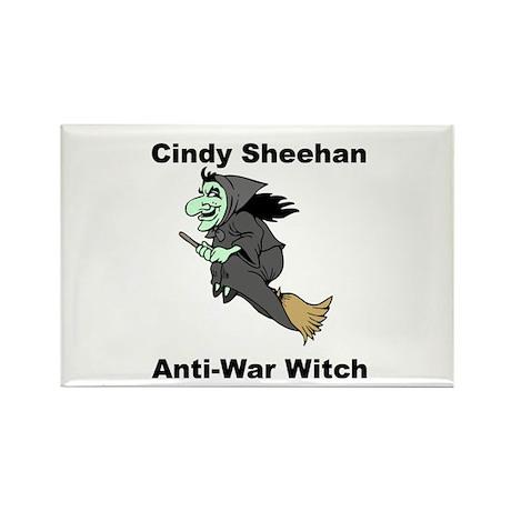 Cindy Sheehan Anti-war Witch Rectangle Magnet (100