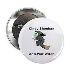 Cindy Sheehan Anti-war Witch Button