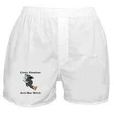 Cindy Sheehan Anti-war Witch Boxer Shorts