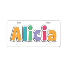 Alicia Spring11 Aluminum License Plate