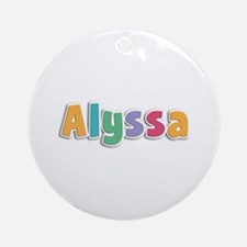Alyssa Spring11 Round Ornament